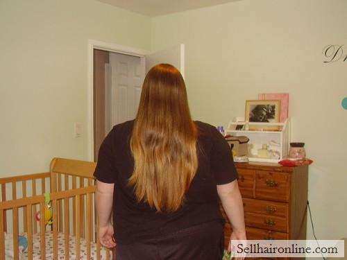 very very thick HAIR , light brown HAIR , 10\' inches and soft HAIR!