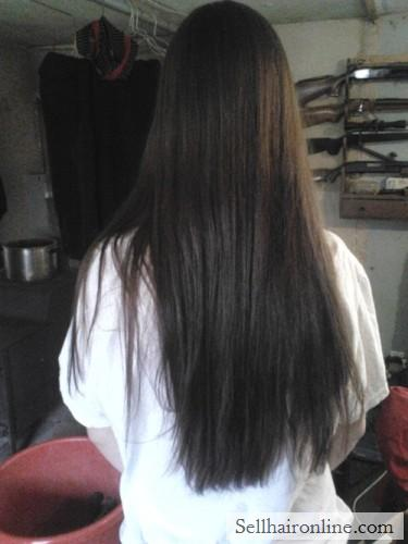 Dark brown hair for sale