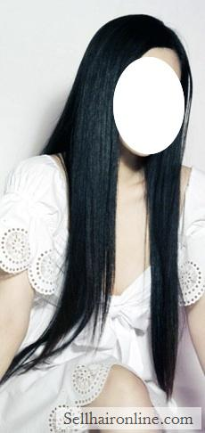 Virgin 20 inches straight Asian Dark Brown Hair