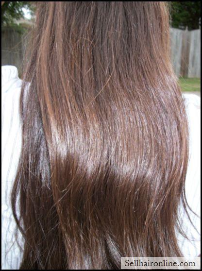 Selling12 inch Naturally Red Highlighted Black Hair