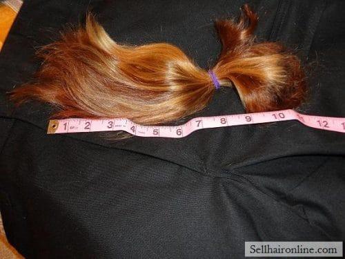 11 1/2 inch light brown/dark blond hair for sale