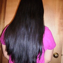 """Beautiful Japanese Black Straight Hair for Sale! 12\"""" long, 4\"""" tick."""