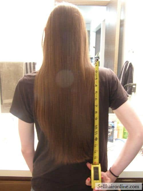 very long hair to cut off