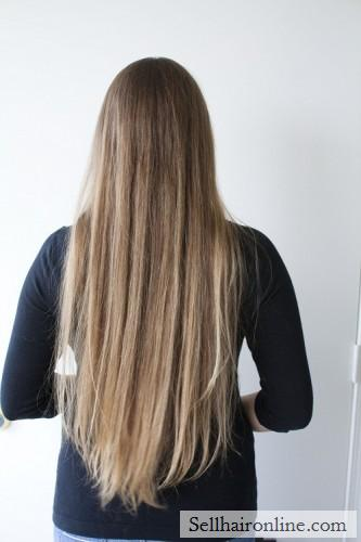 Seling over 16 inches of beautiful, silky, light brown hair with lots of natural gold and blonde highlights. My hair is naturally straight and shiny.