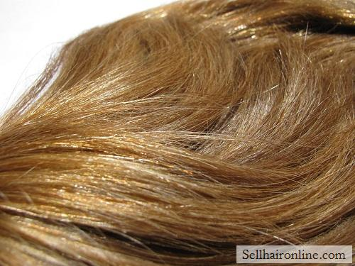 "13"" Thick Auburn Hair For Sale, Gorgeous Natural Highlights"