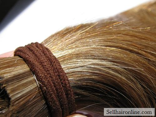 """13\"""" Thick Auburn Hair For Sale, Gorgeous Natural Highlights"""