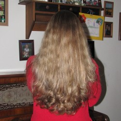 Beautiful Brunette Non-Treated Hair With Natural Highlights For Sale