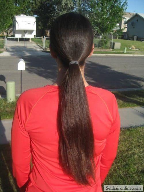 Sell 17″ Dark Brown Virgin Hair