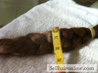 "Child\'s Golden Brown Braid For Sale -14"" Long"