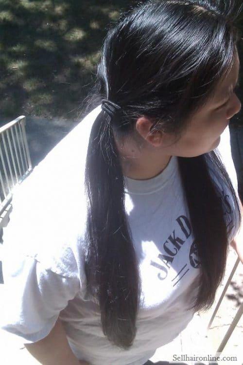 Sell My Beautiful Long Dark Brown Virgin Native American Hair