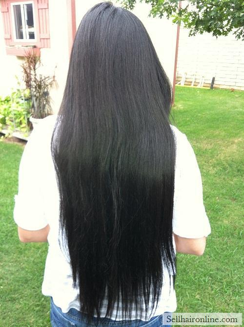 VIrgin Thick Straight Dark Brown/ Black Hair For Sale!