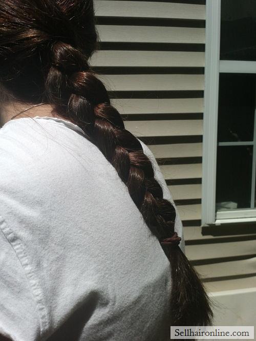 """16\"""" Virgin Brunette Hair For Sale"""