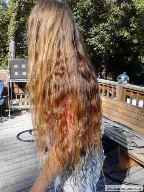 ROCK STAR HAIR: Beautiful Thick Wavy Virgin Golden-Strawberry Blond Man Hair For Sale