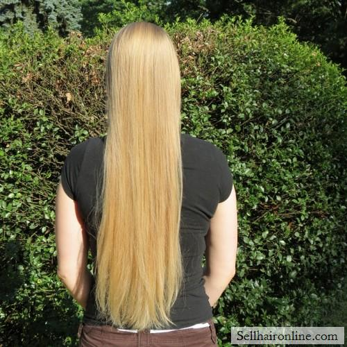 """18\""""-20\"""" naturally straight light blonde hair for sale"""