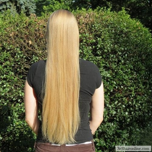 "18""-20\"" naturally straight light blonde hair for sale"