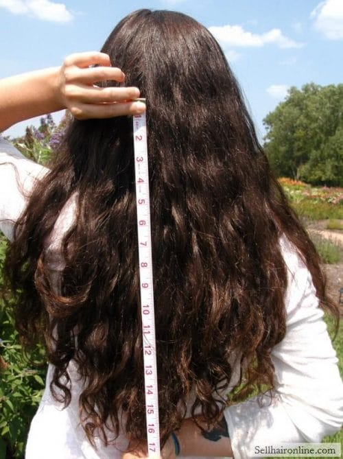 Beautiful virgin thick dark hair for sale!