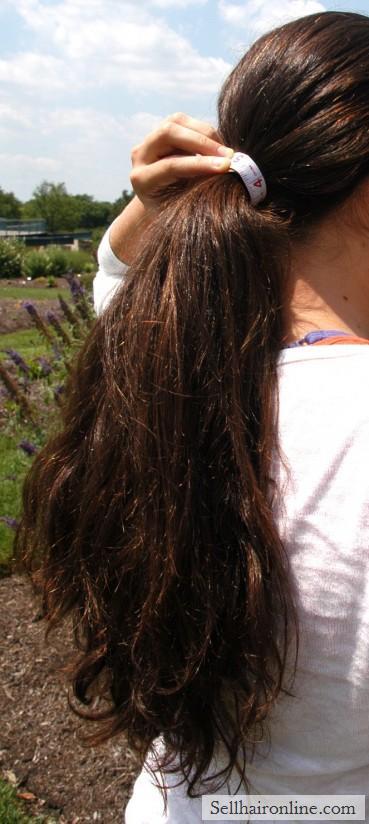 Beautiful virgin thick dark hair for sale!