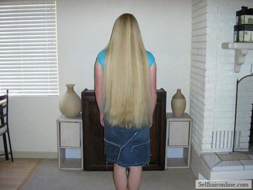 """17\"""" Virgin Wavy Blonde Hair For Sale"""