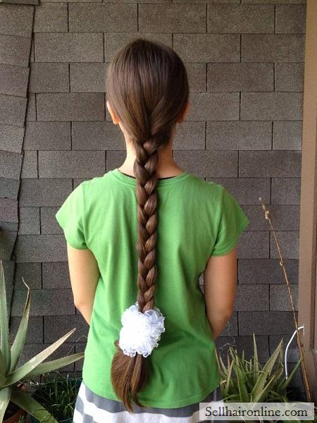 sell healthy light brown russian virgin hair from a 9 y/o girl