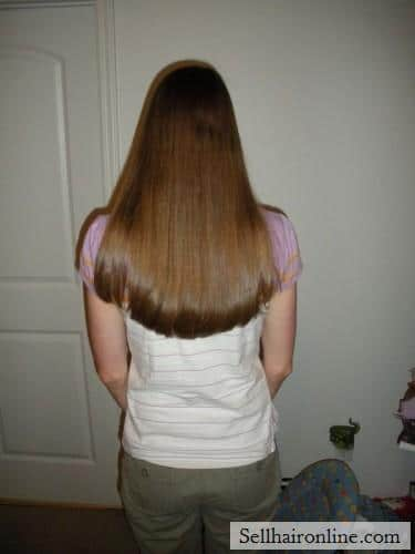 14 in. Virgin Light Brown Hair For Sale, Natural Blond Highlights