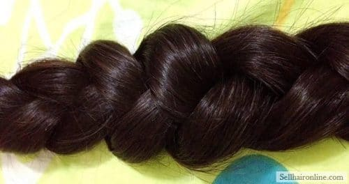 Sell My Beautiful 17.7″ Natural Virgin Dark Brown/ Black HAIR