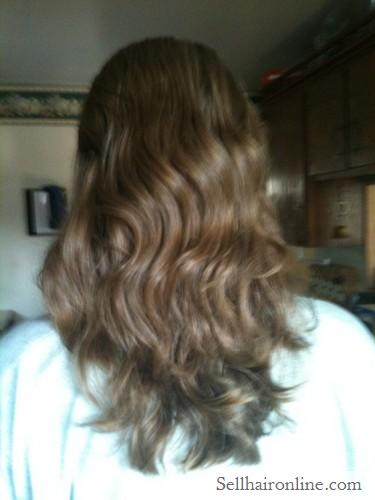 Healthy and beautiful thick wavy blonde hair for sale