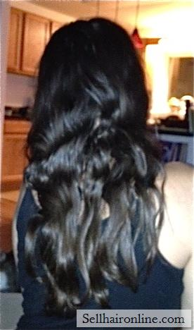 Lovely Dark Brown Virgin Hair with Natural Reddish-Brown Highlights For Sale!
