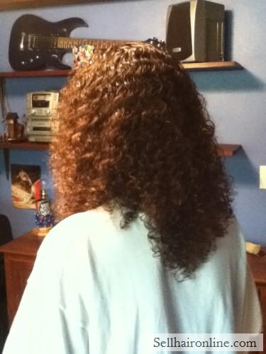 Virgin 11\'\'-12\'\' Brown Hair with Natural Golden and Auburn highlights