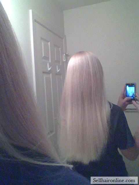 Beautiful light blond virgin hair for sale