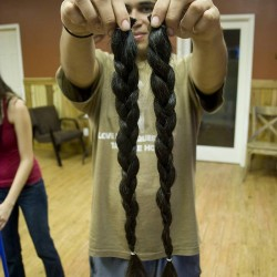 Naturally Wavy/Curly Brown Native American/Hispanic Male Hair For Sale