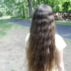 "Sell My 19"" Thick Brown Virgin Hair"