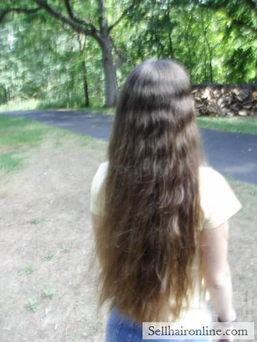 """Sell My 19\"""" Thick Brown Virgin Hair"""
