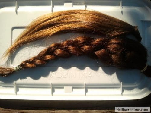 """Beautiful thick 12\""""of Dark Brown with natUral red highlights hair for sale"""