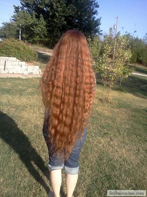 Sell My Beautiful Metallic Red Hair ~ Curly and Super Thick ~