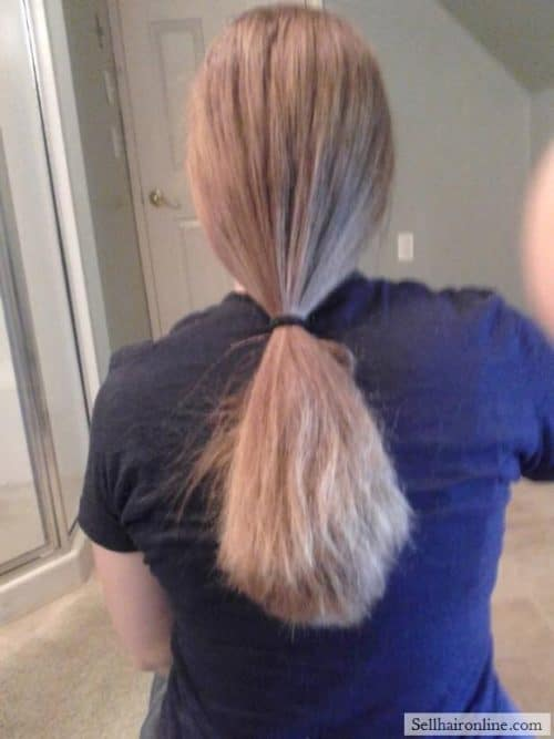selling this great thick ponytail for ponytail buyers