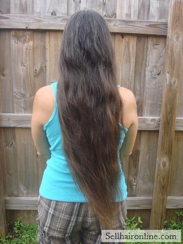 very long hair cut off