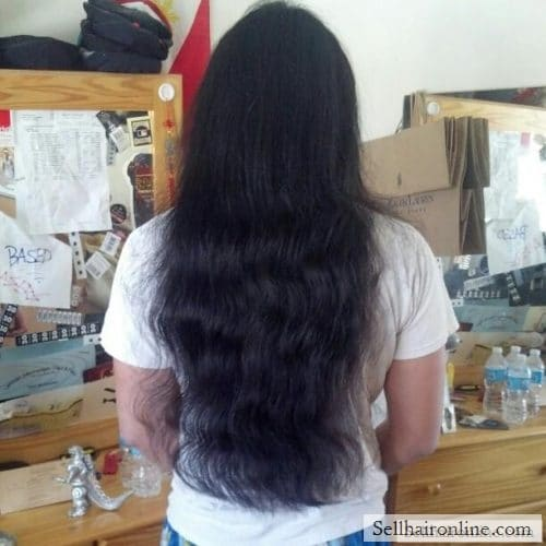 Healthy Black Wavy Virgin Asian Hair