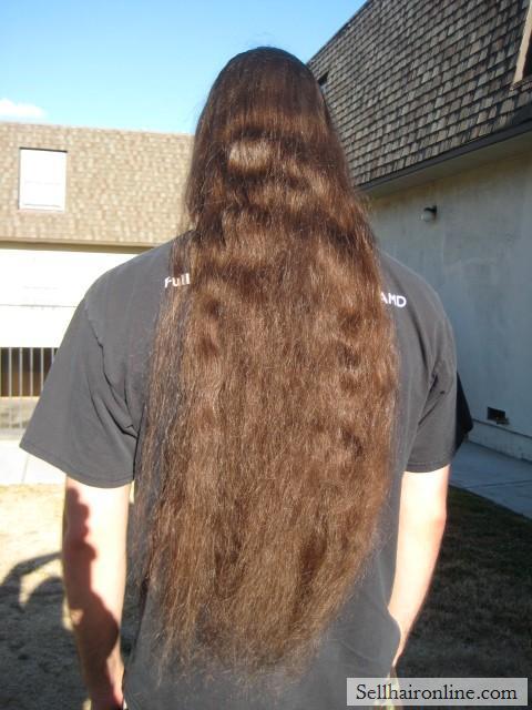 cutting off long hair