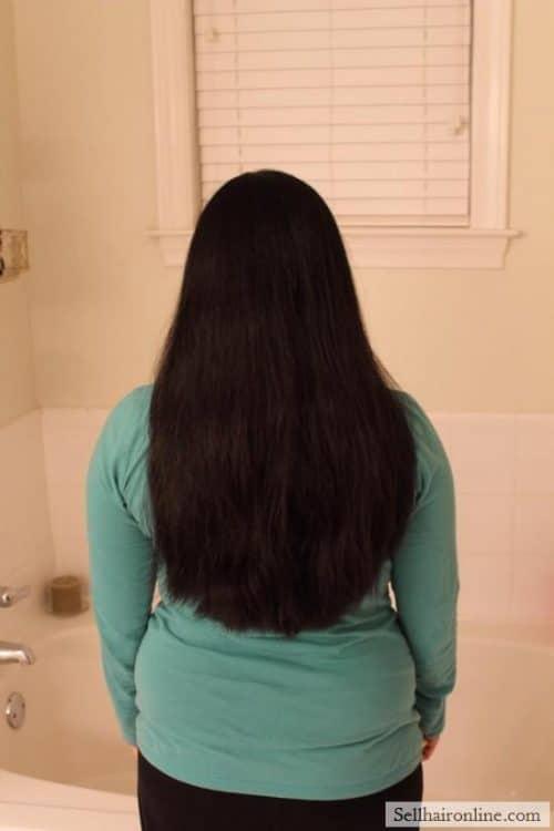 very long asian black hair
