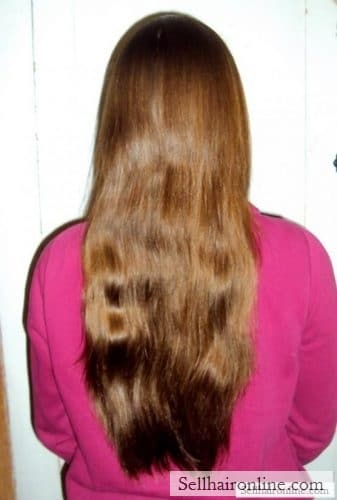 chestnut brown hair