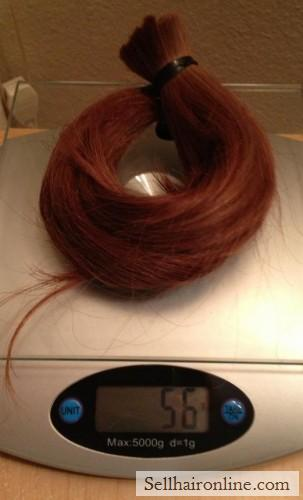 red long virgin hair for sale