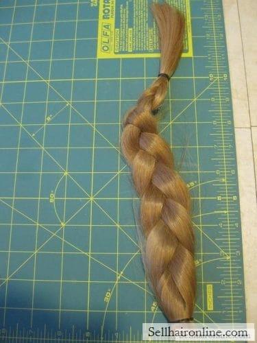 very long strawberry blonde hair