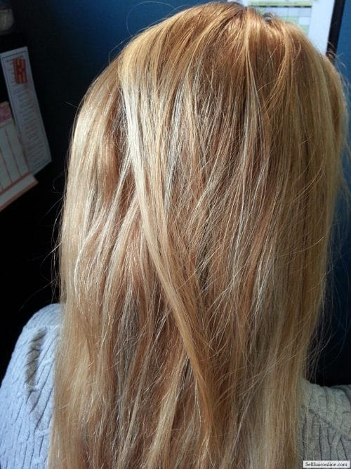 Blonde Natural Highlights hair to sell 4