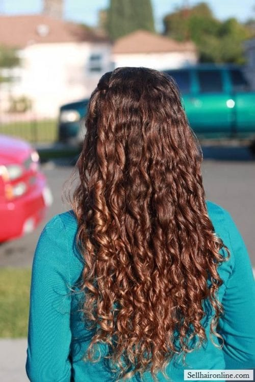 long virgin RINGLETS