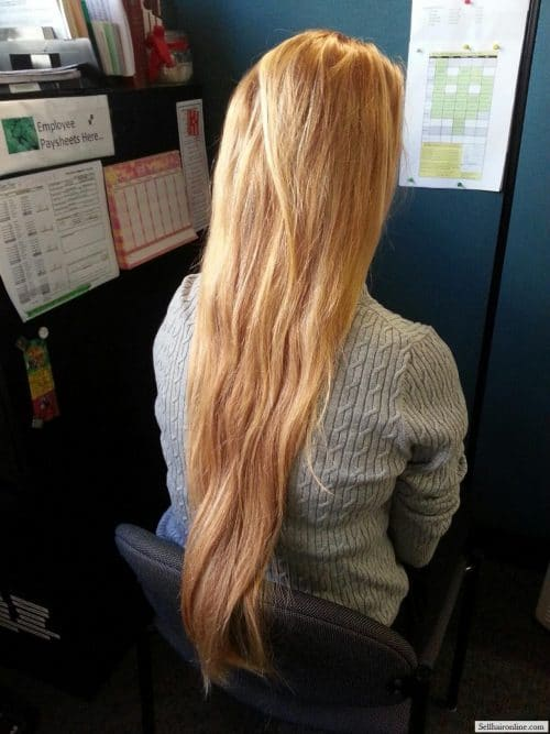 Blonde Natural Highlights hair to sell