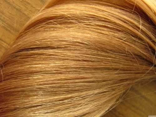 Approximately 24 inches of gorgeous golden blond virgin hair