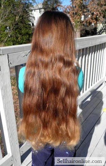 18 inches of lustrous brown, virgin hair