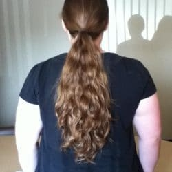 19″ Thick Red/Brown Wavy Hair for sale