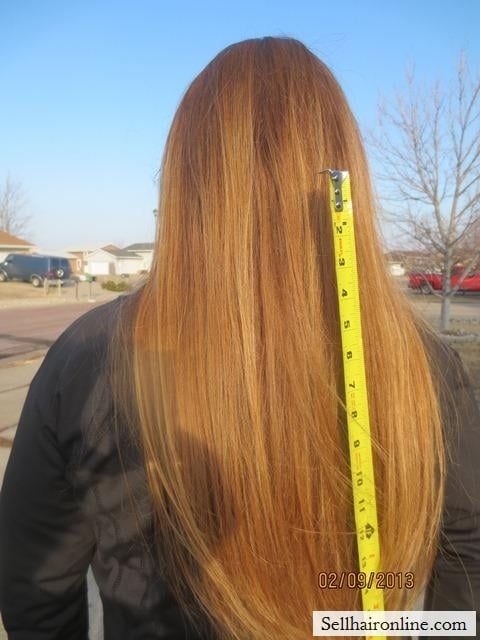 Long Straight American Blond Hair 12 – 15 inches