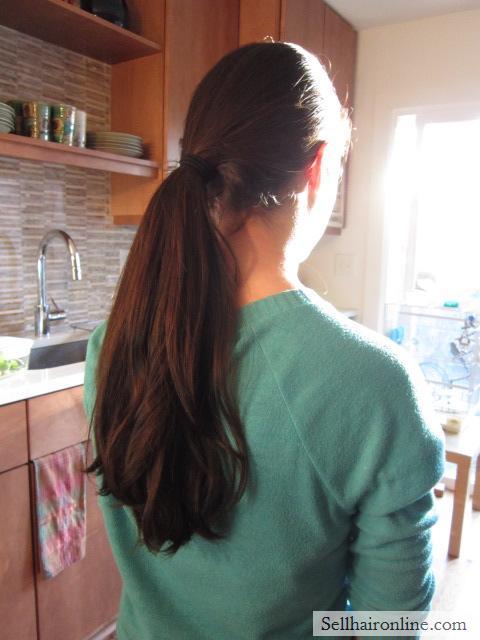 THICK VIRGIN CHOCOLATE BROWN HAIR